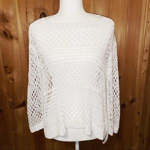 Christian Siriano white loose knit sweater XXL